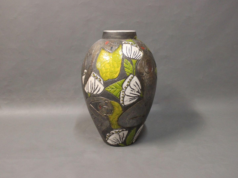 keramik gulvvase .Antikvitet.  Stor keramik gulvvase af Dorthe Friis  keramik gulvvase